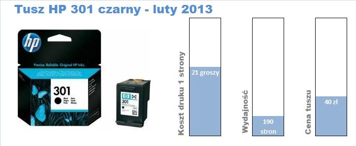 tusz HP 301 czarny 201302